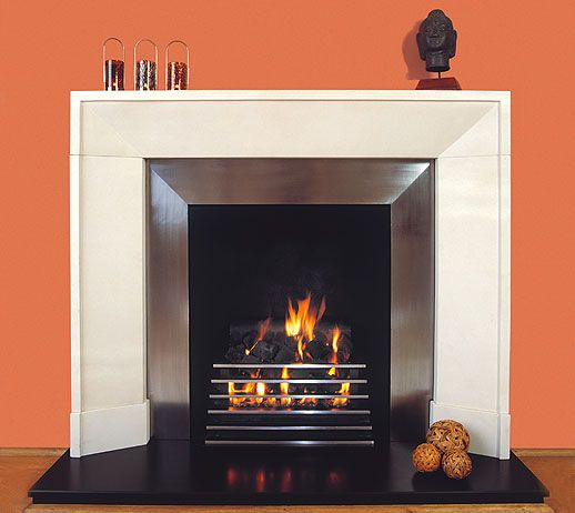 Contemporary Fireplace With Mantle Interiors Pinterest