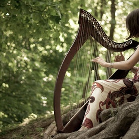 Harp music in the forest