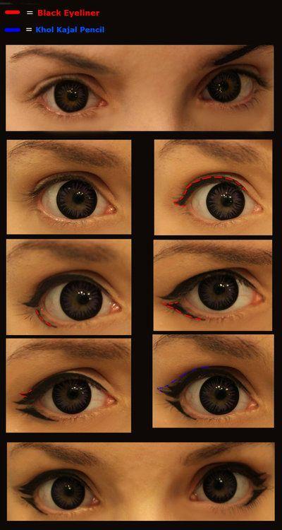 Как делать большие глаза картинки