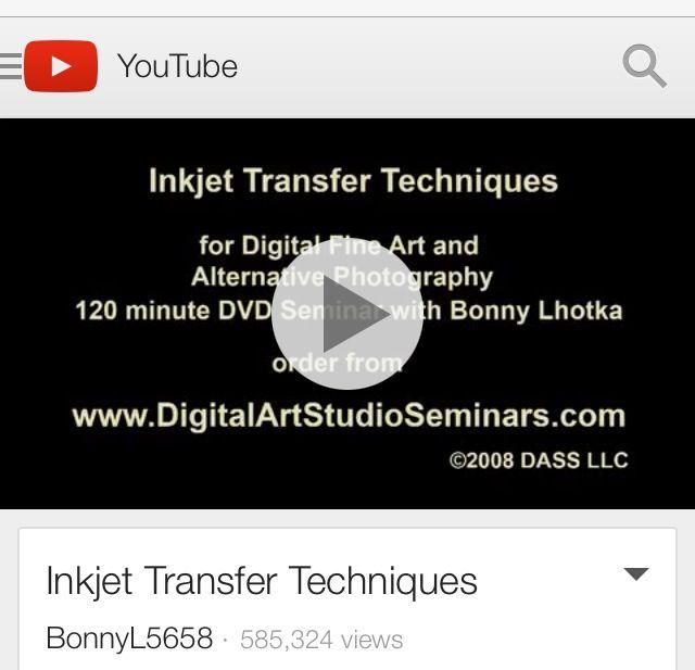 Inkjet transfer techniques crafts image transfer pinterest