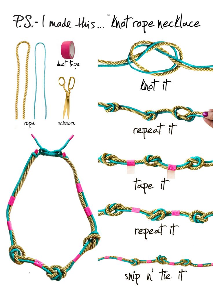 diy knot rope necklace