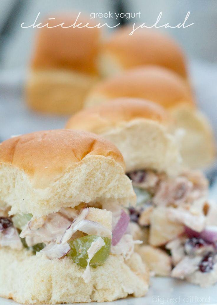 easy greek yogurt chicken salad sandwich using a rotisserie chicken ...