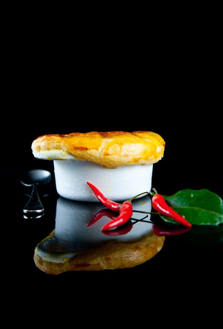 Thai curry chicken pot pie on a food blog written by a highly ...
