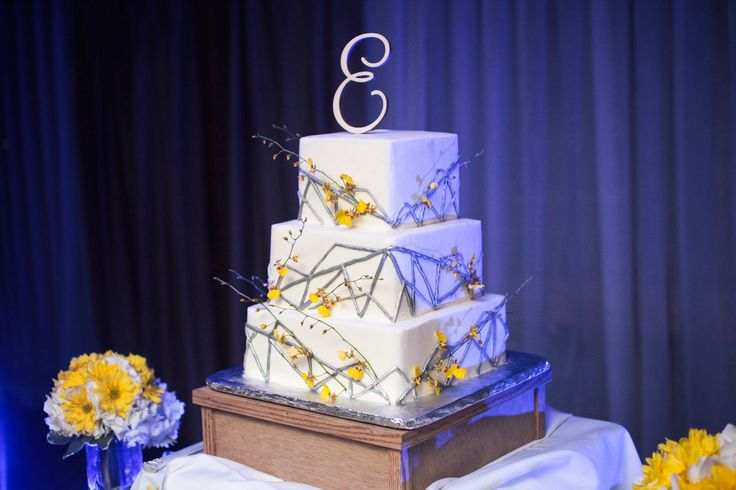 yellow and gray wedding cake wedding cakes pinterest