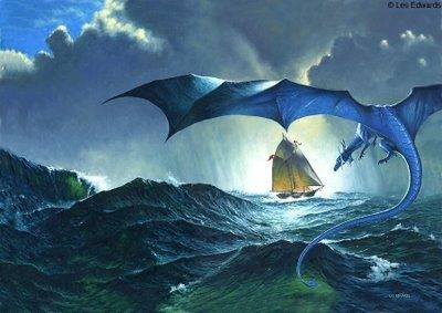 Blue dragon flying over the sea | Dragonflies | Pinterest