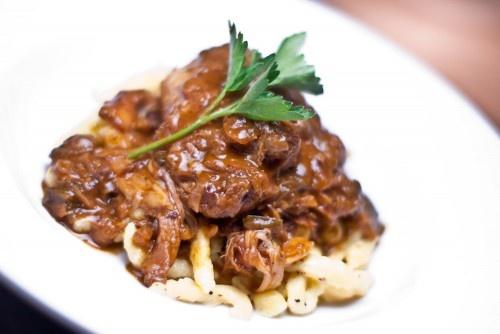 Chicken Paprikash With Nokedli (Csirke Paprikas) Recipes — Dishmaps