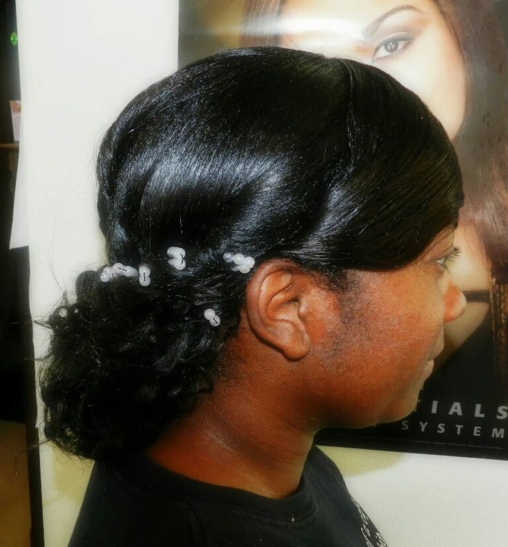 wedding Updo Relaxer added curly weave Healthy Hairstyles while hav ...