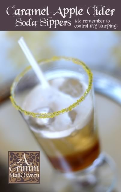 Caramel Apple Cider Soda Sippers | Drinks | Pinterest