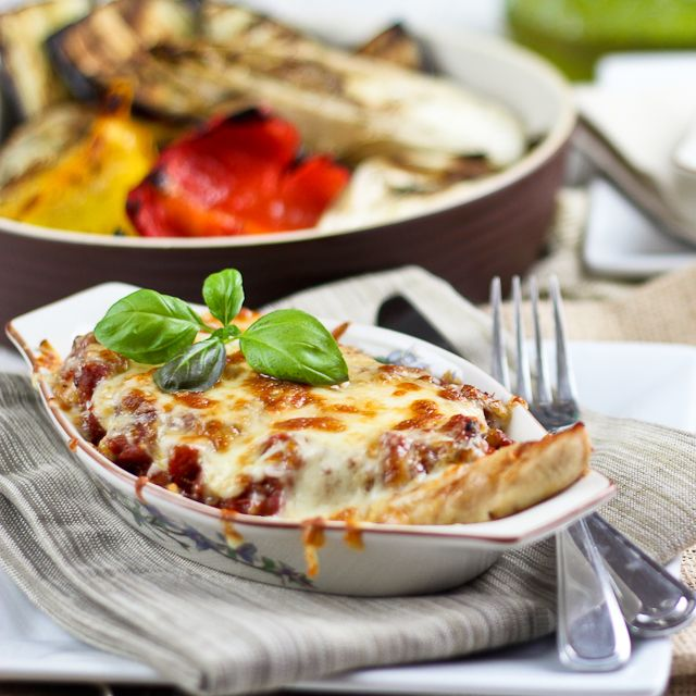 Grilled Chicken Parmesan - A summertime version!