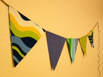 The Pinterest Challenge: No Sew Pennant Banner | The Baker Family: The
