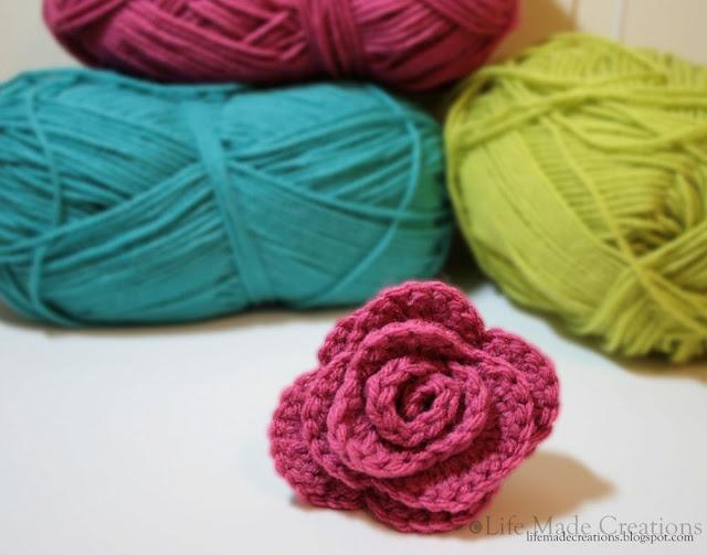 Crochet Rose Pattern : Crochet Rose Pattern a temp Pinterest