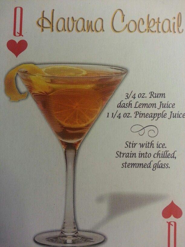 Havana Cocktail   54 Mixed Drinks Recipes   Pinterest
