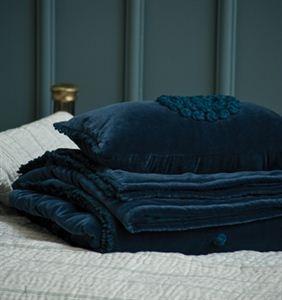 Velvet Comforter In A Dark Moody Teal For The Home