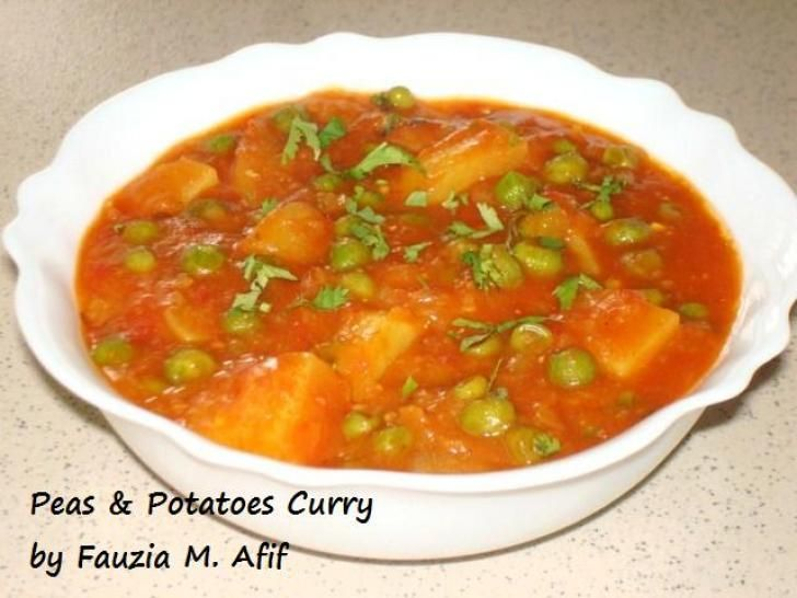 Peas & Potatoes Curry (Aloo Matar) | Fauzias Kitchen Fun -- pressure ...