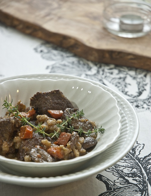 Beef Stew With Barley and Mushrooms | Om nom nom | Pinterest