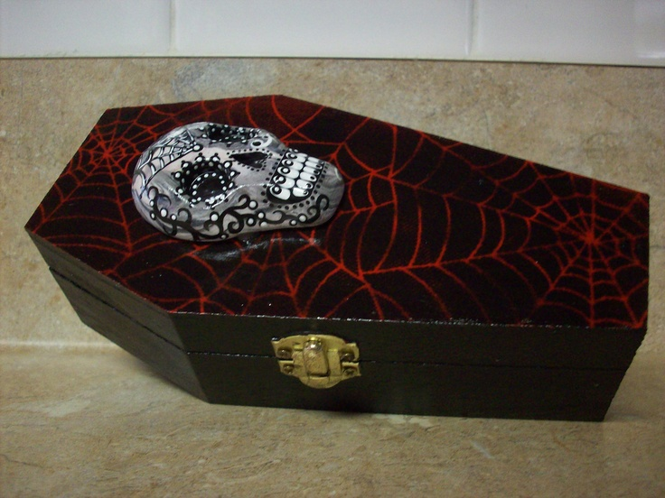 Skull Wedding Coffin Ring Holder Skull Halloween Wedding Theme Pi