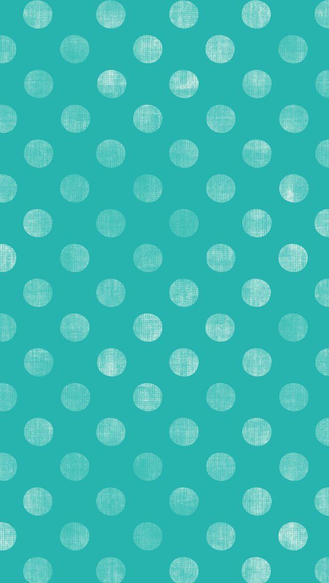 iphone 5 wallpaper - #aqua #teal #polkadot #pattern