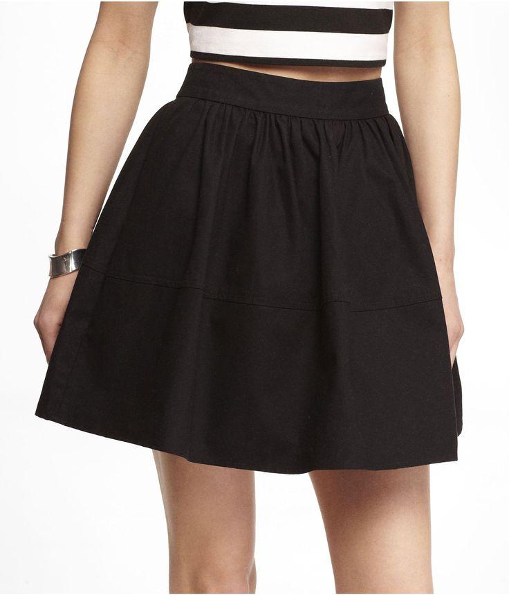 High Waisted Cotton Skirt 74