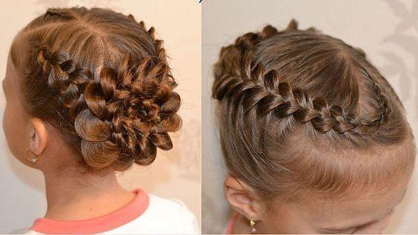 Причёски из косичек на выпускной в детском саду
