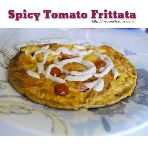 Spicy Tomato Frittata #lowcarb #protein #healthy #recipe