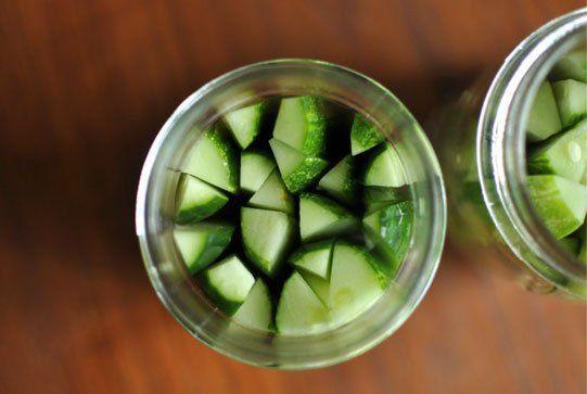 Garlic Dill Refrigerator Pickles Recipe — Dishmaps