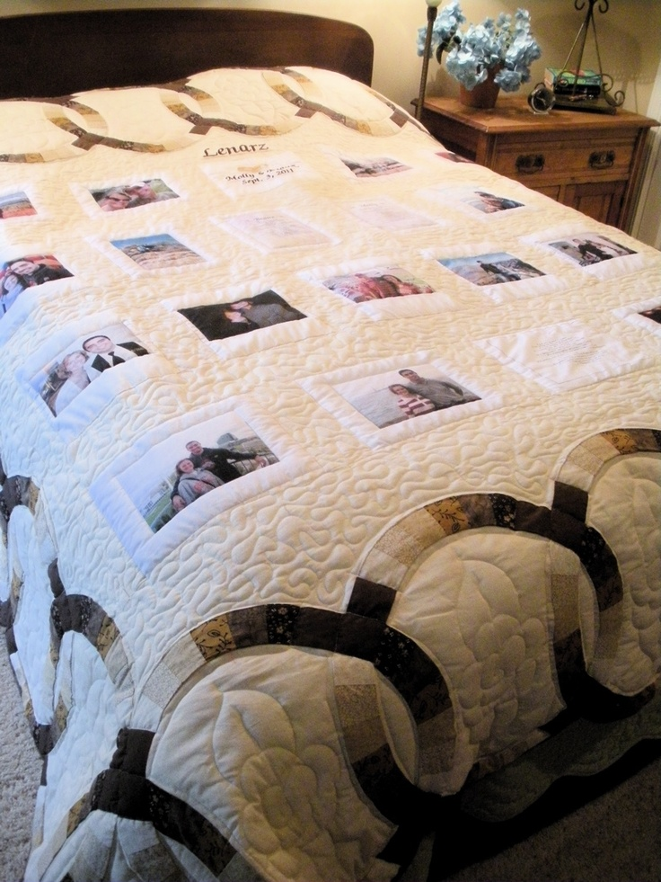 Double Wedding Ring Photo Quilt