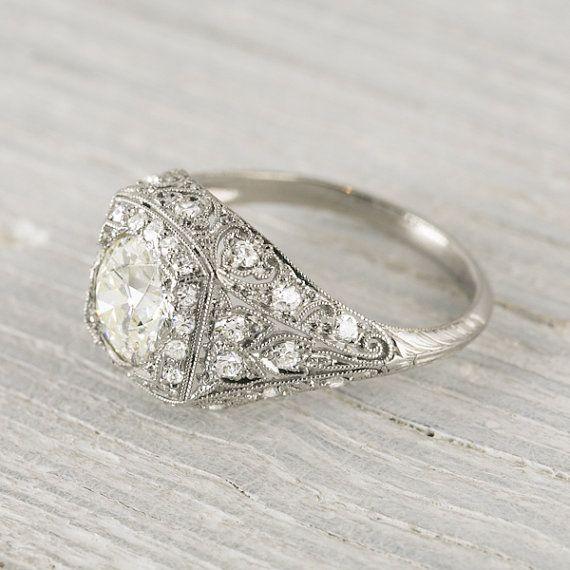 Vintage 1 25 Carat Edwardian Engagement Ring