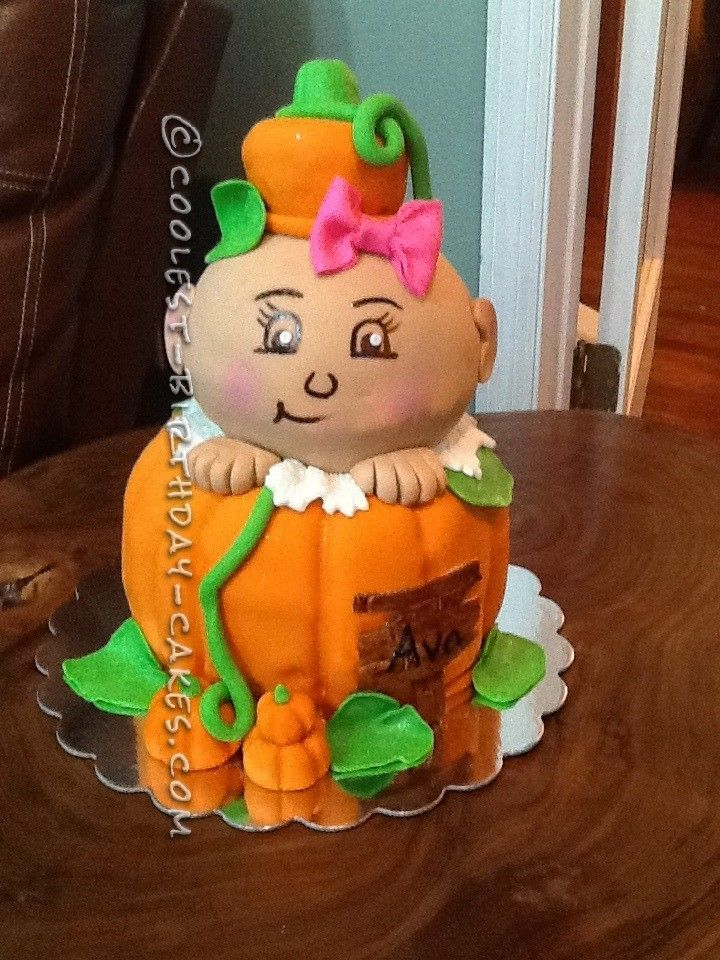 Itty Bitty Baby Pumpkin Baby Shower Cake... This website is the ...
