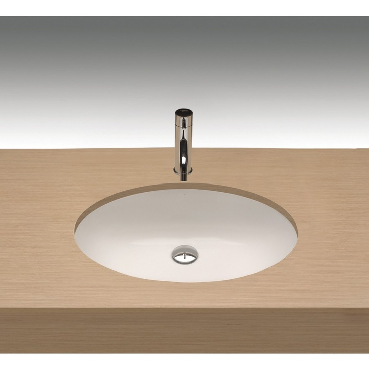 Porcelain Undermount Sink : Bissonnet Egeo Porcelain Undermount Bathroom Sink with Overflow - 292 ...