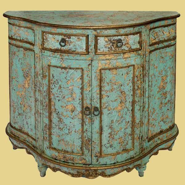 Turquoise Distressed Cabinet Painted furniture