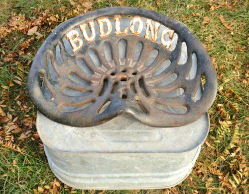 Antique Rustic Cast Iron Budlong Farm Tractor Implement
