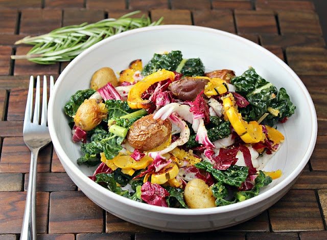 delicata squash with kale + potatoes | Recipes to Try | Pinterest