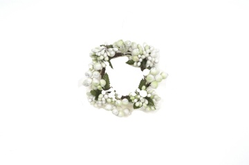 White green berry candle ring flowers pinterest