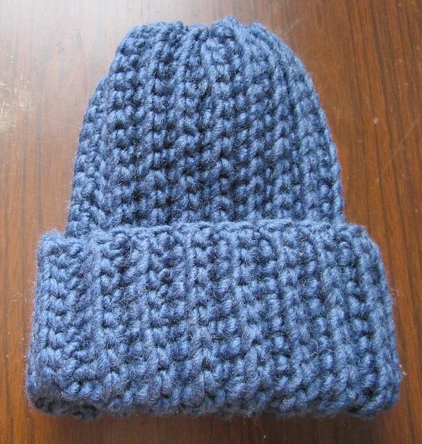 Crochet Ribbed Hat : Crochet Ribbed Hat Blue Crafty Pinterest
