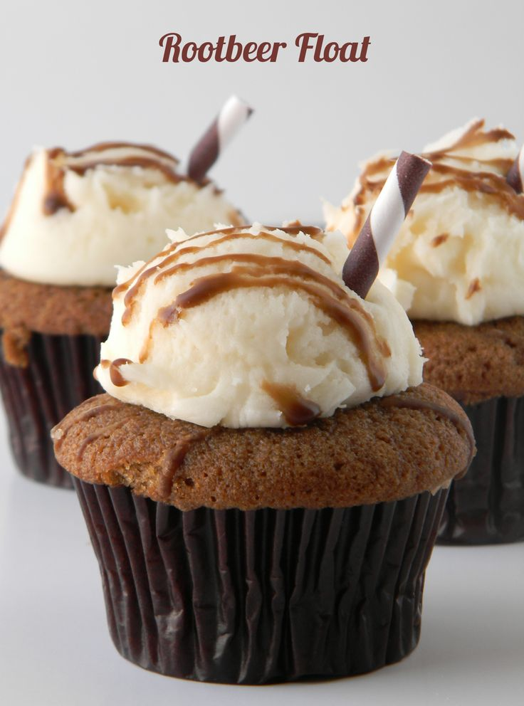 Root beer float cupcakes. | special occasions | Pinterest