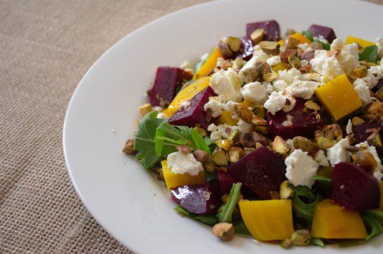 Roasted Beets With Orange And Herbed Goat Cheese Recipe — Dishmaps
