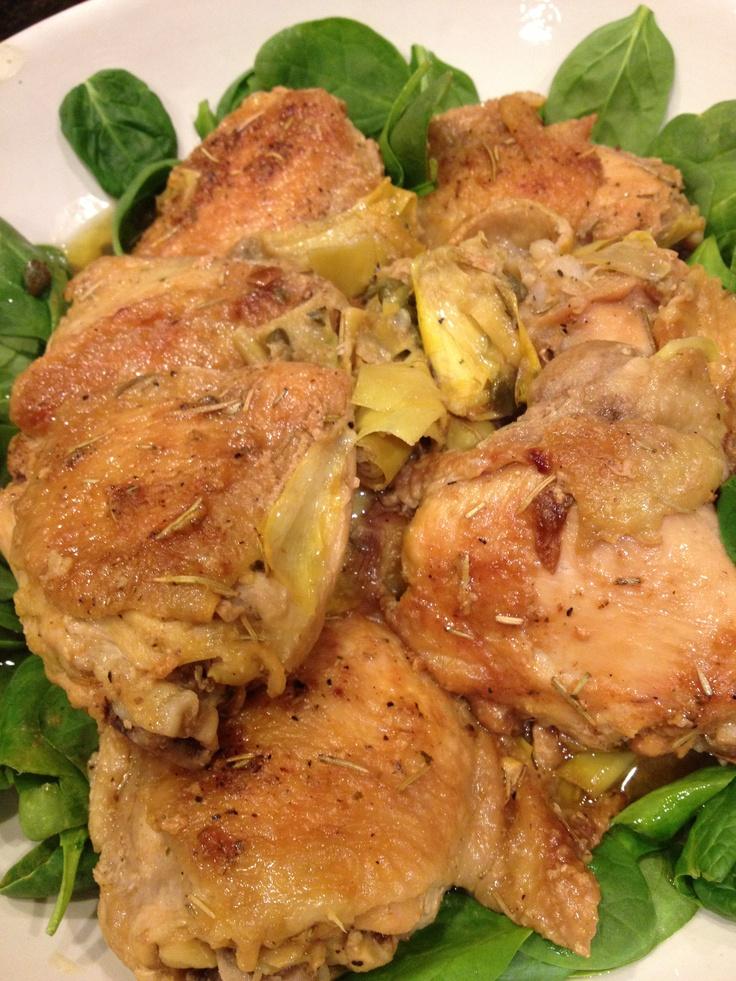Lemon Chicken With Artichokes Recipe — Dishmaps