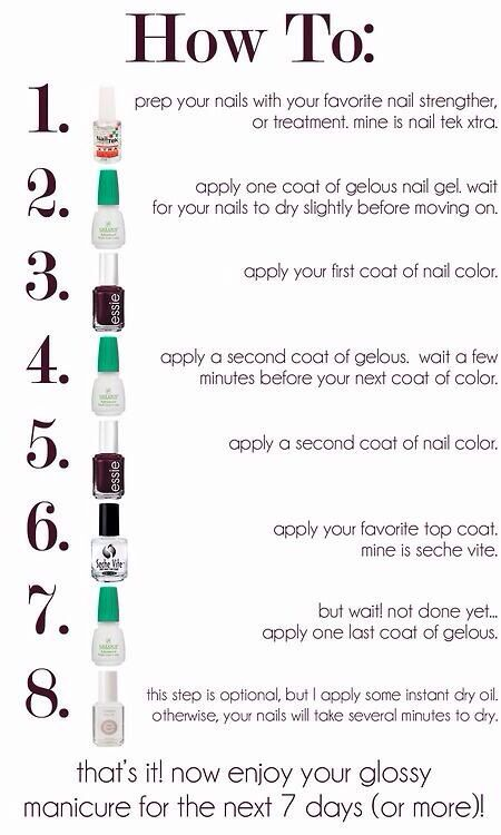 how to do a gel manicure | Nails! | Pinterest
