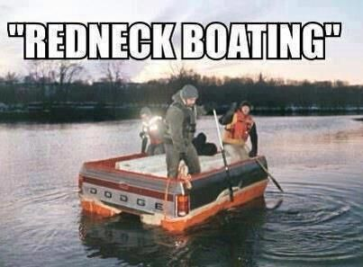 Redneck boat what is a redneck pinterest for Party boat fishing near me