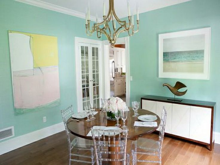 Mint Green Wall Paint Dinning Room For The Home Pinterest