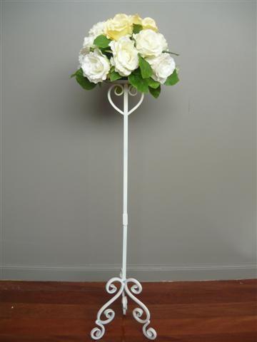 White Flower Stand Wedmin Pinterest