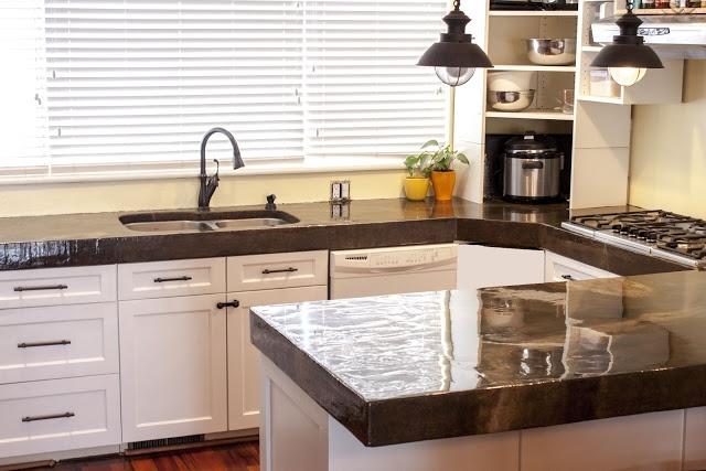 Diy Concrete Countertops Kitchen Pinterest