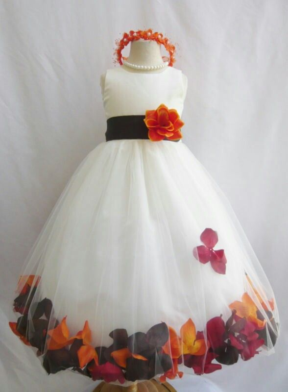 fall flower girl dress wedding ideas pinterest