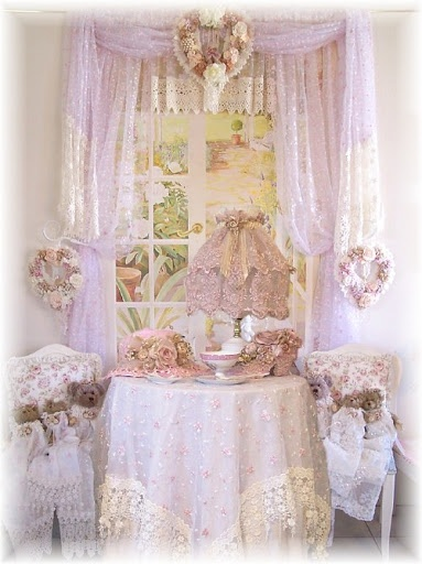 Lace cottage  Shabby chic decor  Pinterest