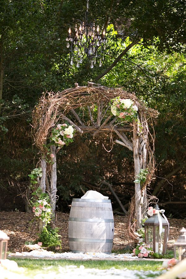 rustic wedding arches
