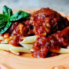 Penne with Chicken Thighs @fiance9 | Recipies | Pinterest