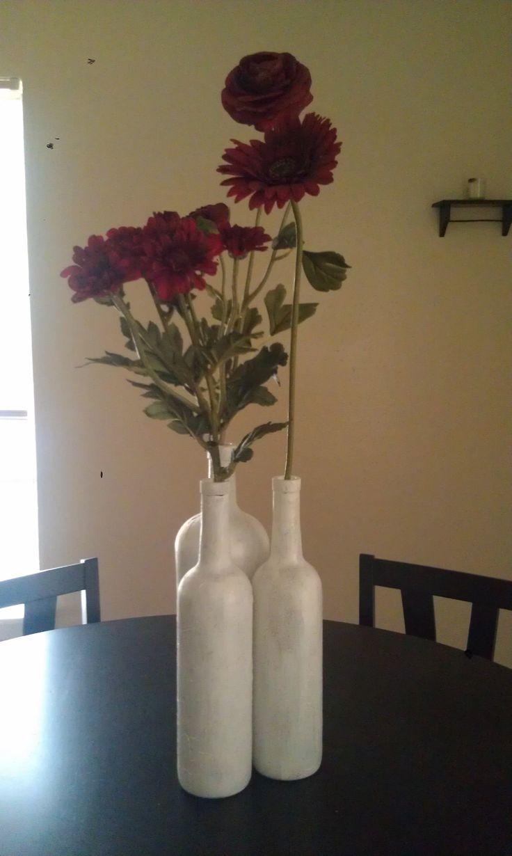 Diy Empty Wine Bottle Christmas Decor Wedding Ideas