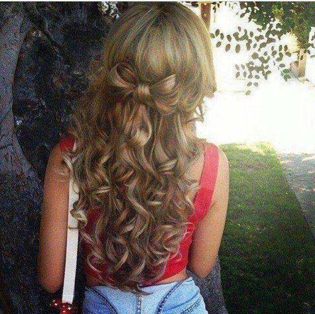 hair bows in curly hair - photo #23