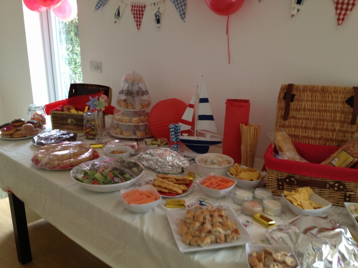 baby shower nautical theme food spread baby shower ideas pinterest