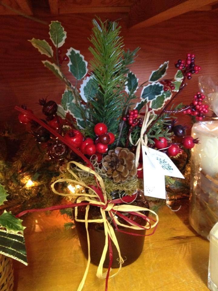 Silk christmas arrangement christmas 2013 pinterest